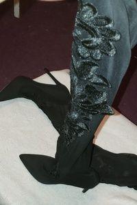 Knee high pantyhose heels